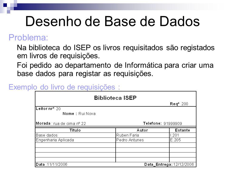 Desenho de Base de Dados