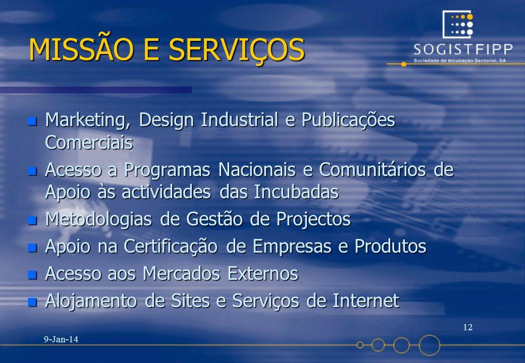 25-03-2017 MISSÃO E SERVIÇOS. Marketing, Design Industrial e Publicações Comerciais.