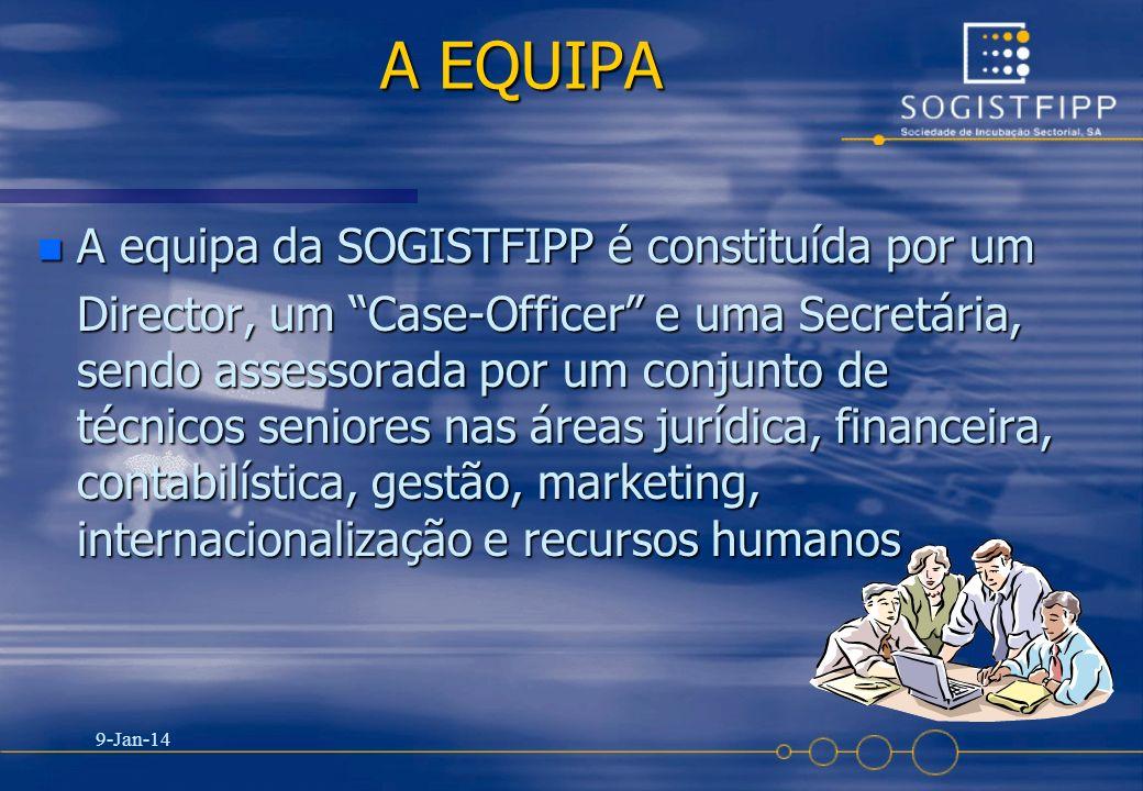 A EQUIPA A equipa da SOGISTFIPP é constituída por um