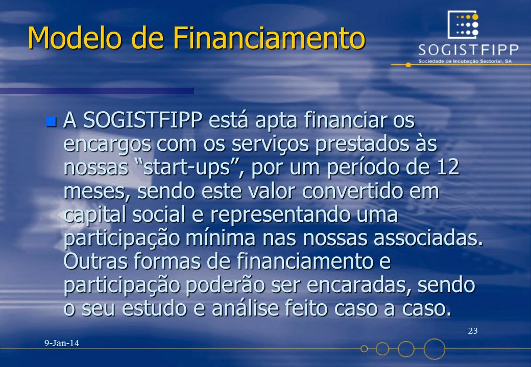 Modelo de Financiamento