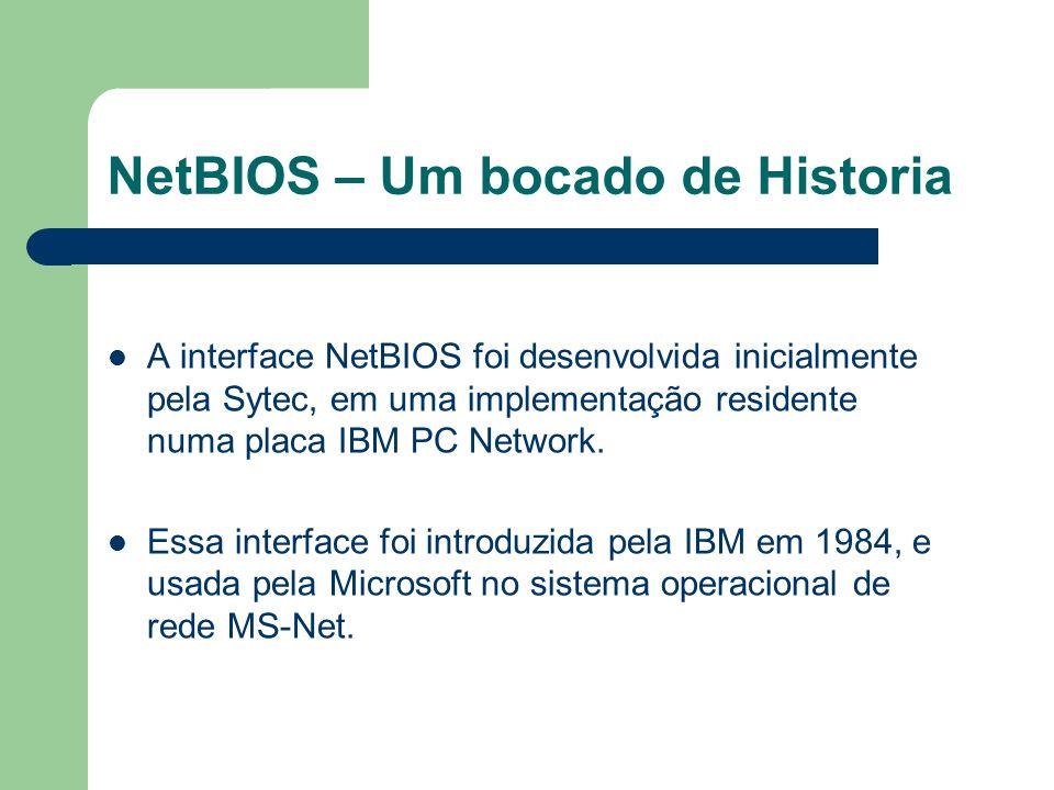 NetBIOS – Um bocado de Historia