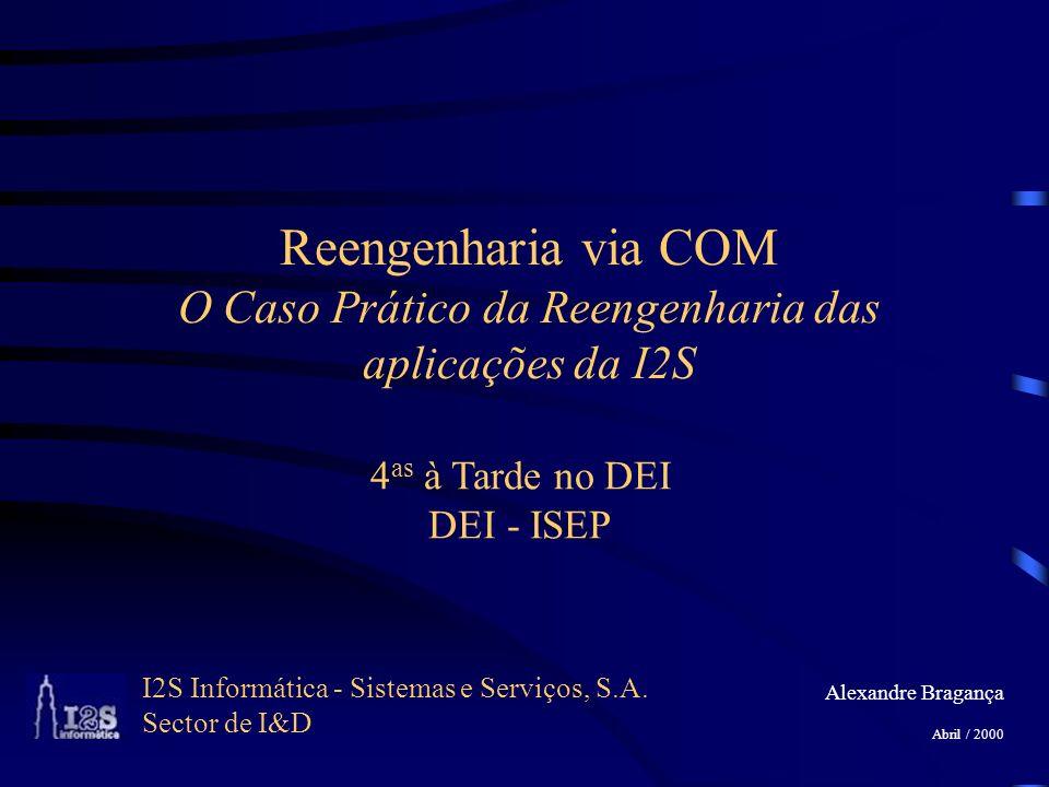 I2S Informática - Sistemas e Serviços, S.A. Sector de I&D