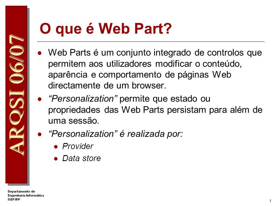 O que é Web Part