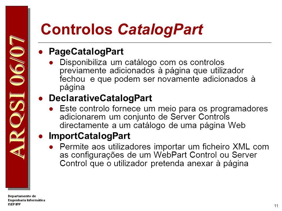 Controlos CatalogPart