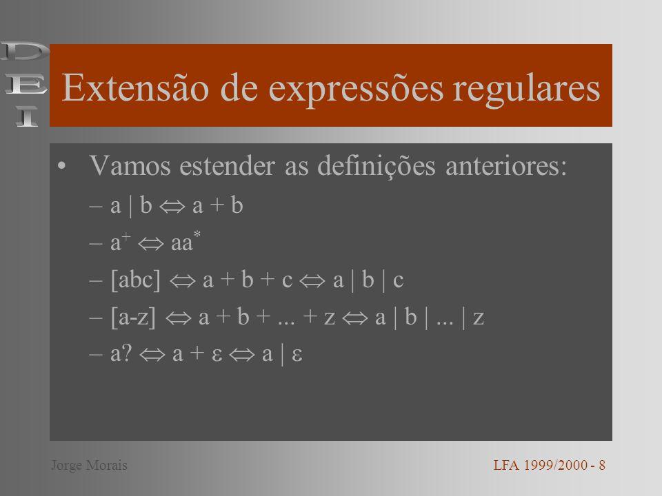 Extensão de expressões regulares