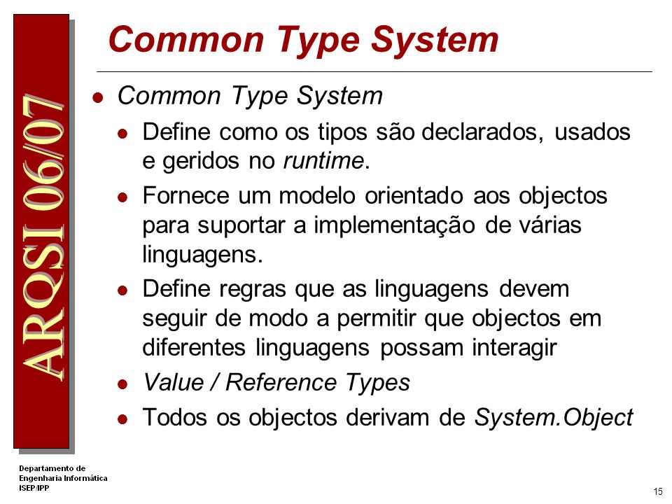 Common Type System Common Type System