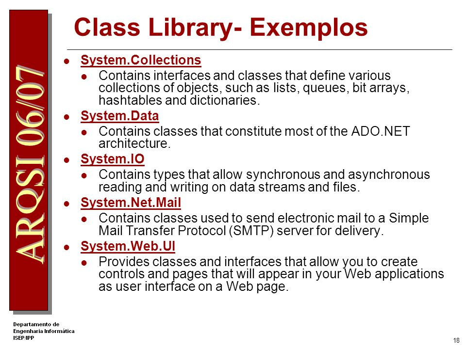 Class Library- Exemplos