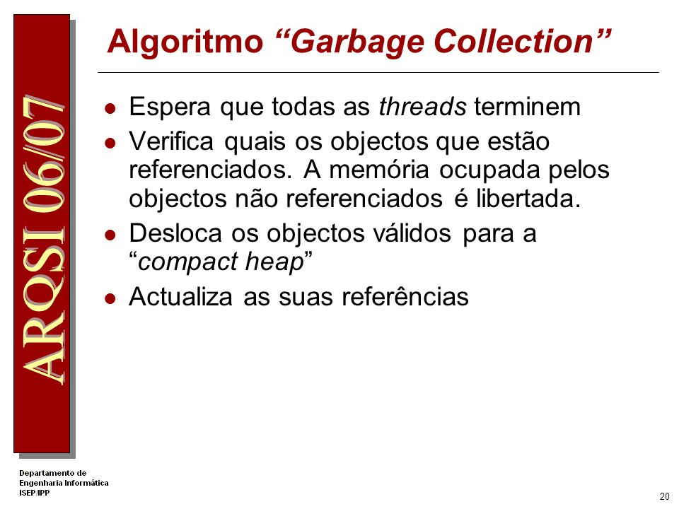 Algoritmo Garbage Collection