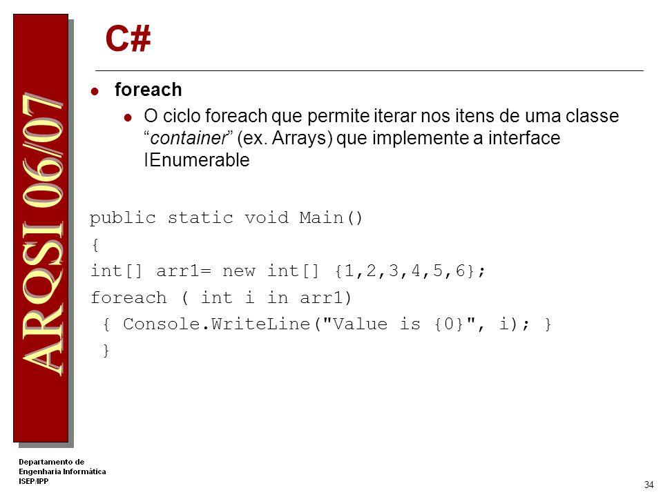 .Net Apprentice C# foreach.