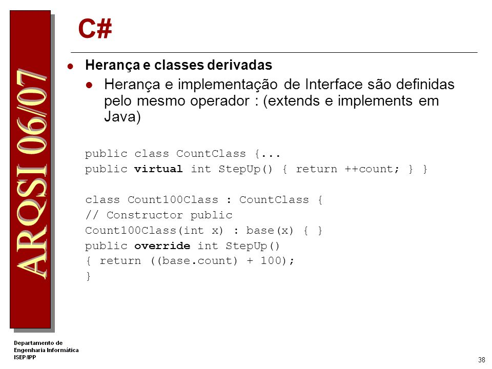 .Net Apprentice C# Herança e classes derivadas.