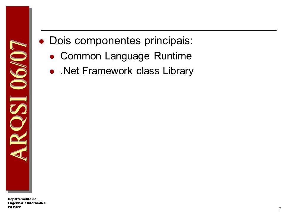 Dois componentes principais:
