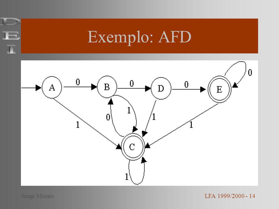 Exemplo: AFD DEI Jorge Morais LFA 1999/2000 - 14