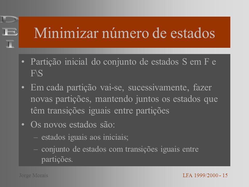 Minimizar número de estados