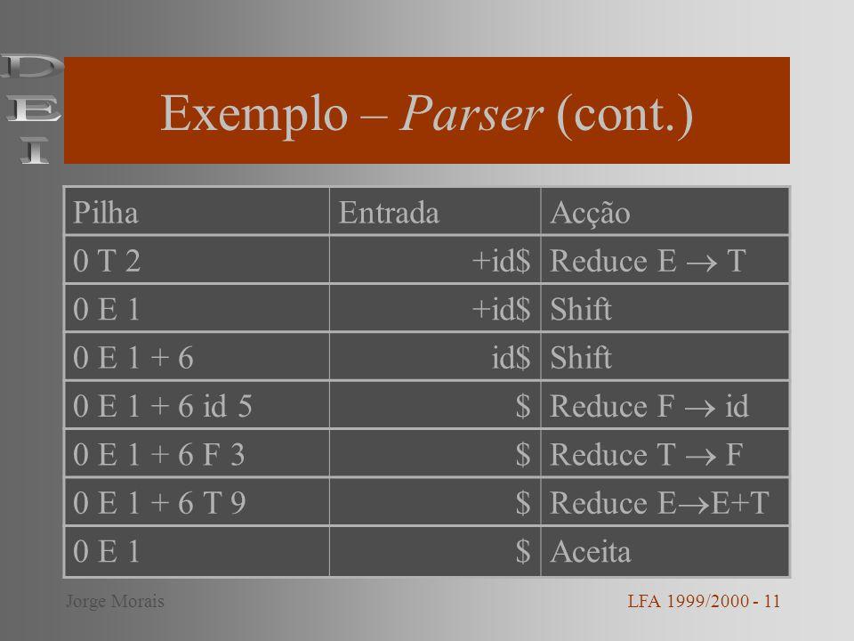 Exemplo – Parser (cont.)