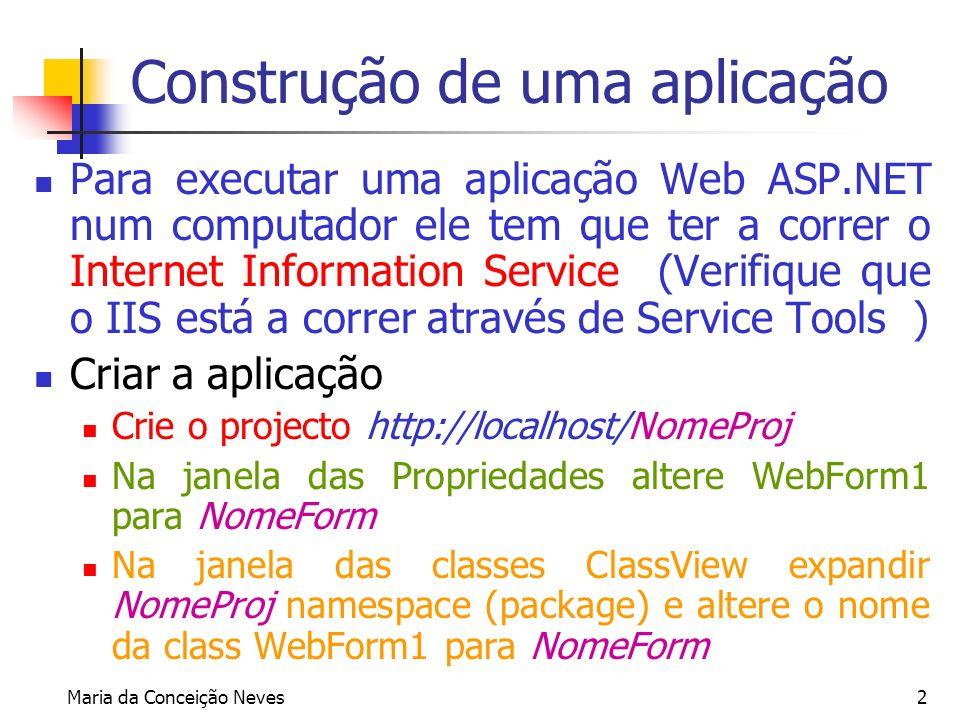 Construção de uma aplicação