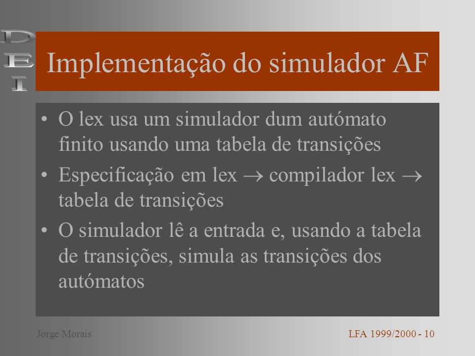 Implementação do simulador AF