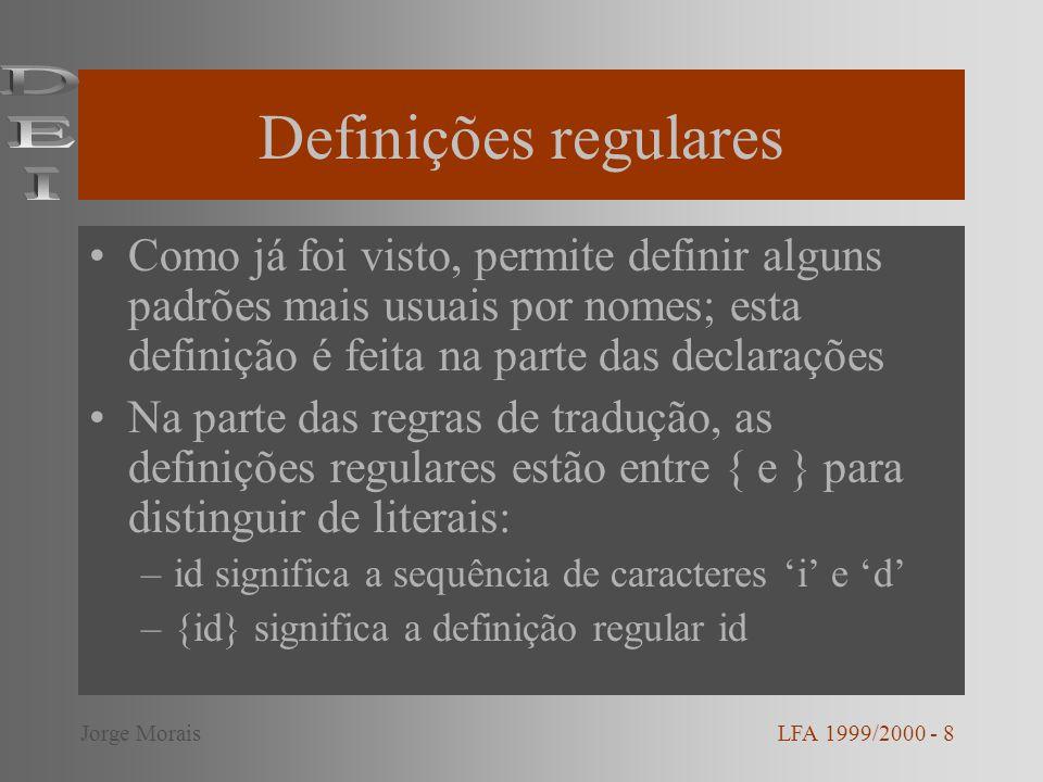 Definições regulares DEI