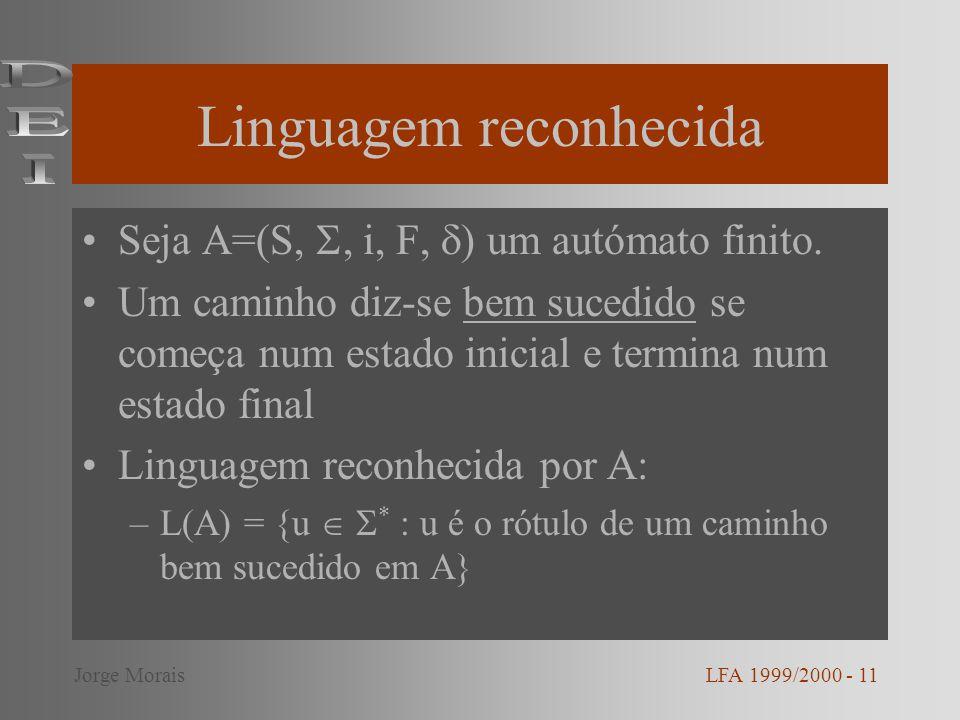 Linguagem reconhecida