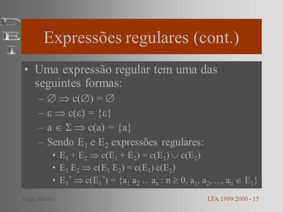 Expressões regulares (cont.)