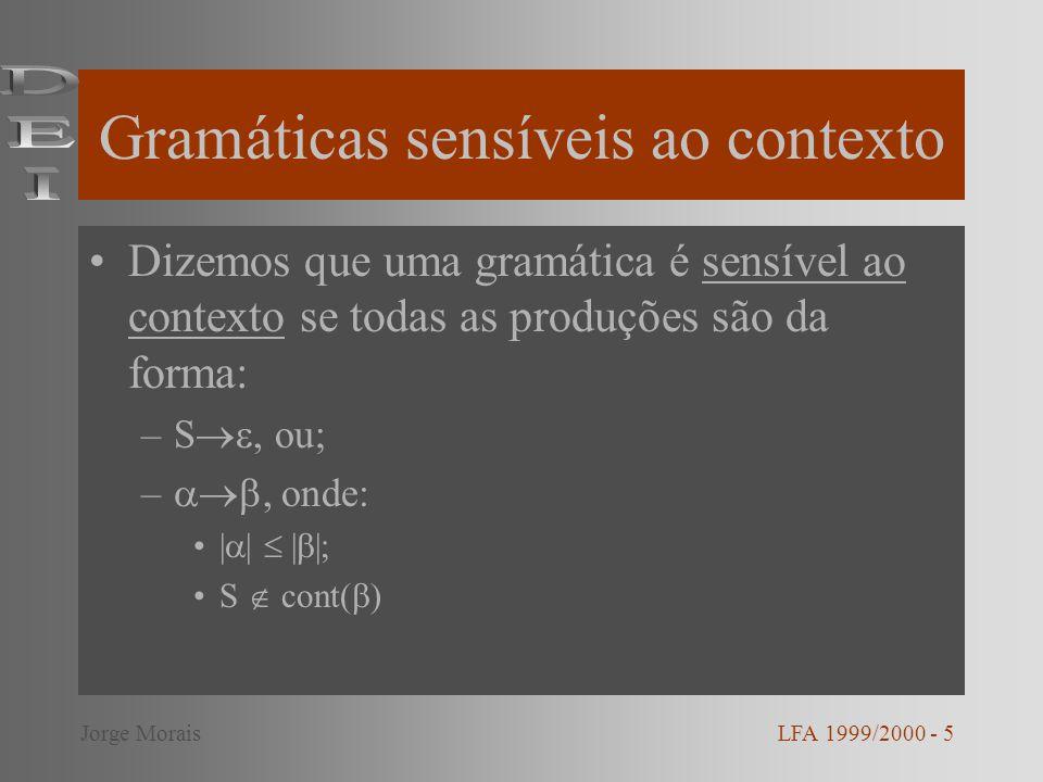 Gramáticas sensíveis ao contexto
