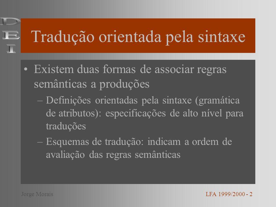 Tradução orientada pela sintaxe