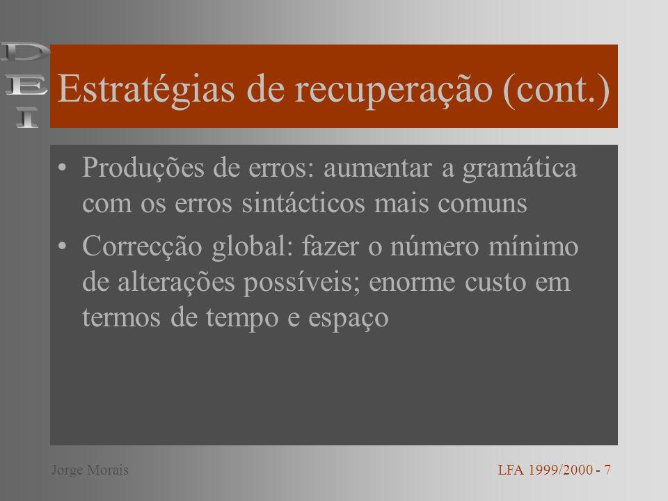 Estratégias de recuperação (cont.)