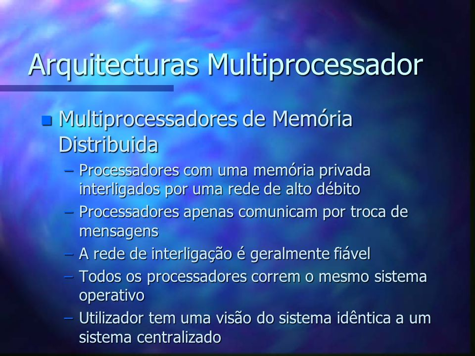 Arquitecturas Multiprocessador