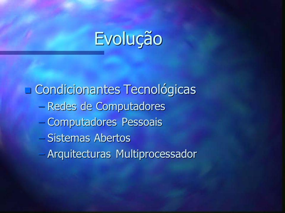 Evolução Condicionantes Tecnológicas Redes de Computadores