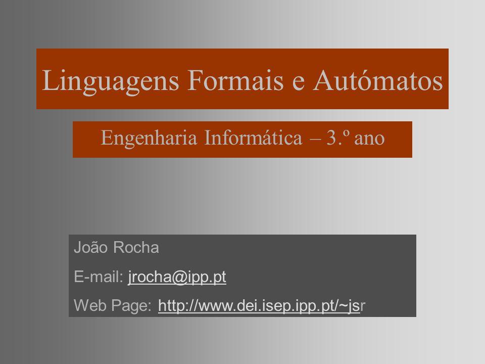 Linguagens Formais e Autómatos