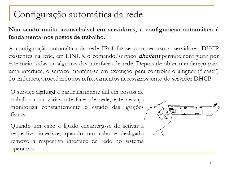 Configuração automática da rede