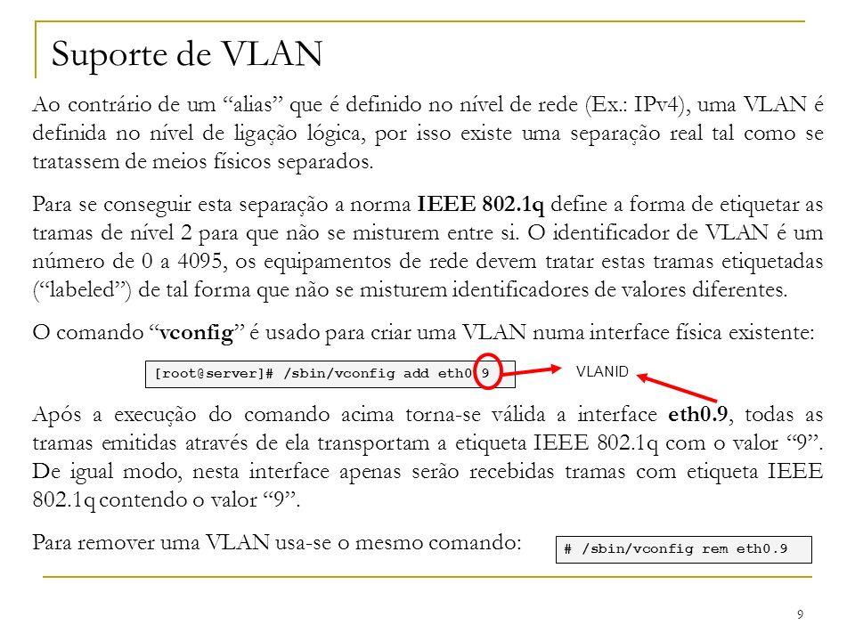 Suporte de VLAN