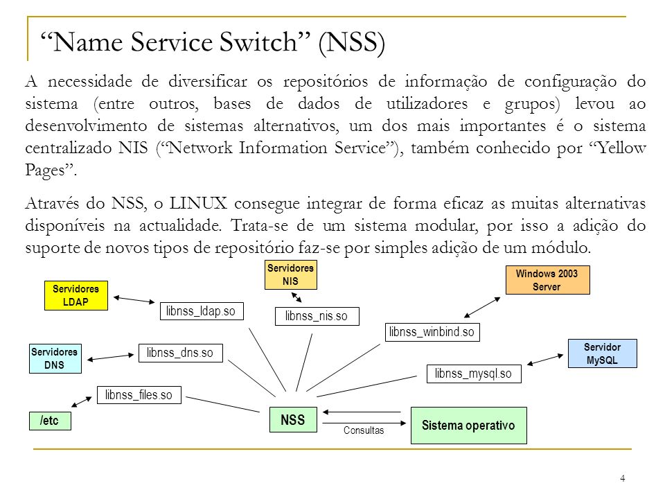Name Service Switch (NSS)
