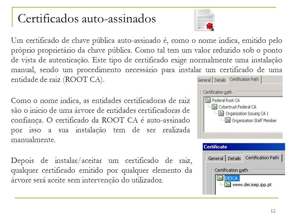 Certificados auto-assinados