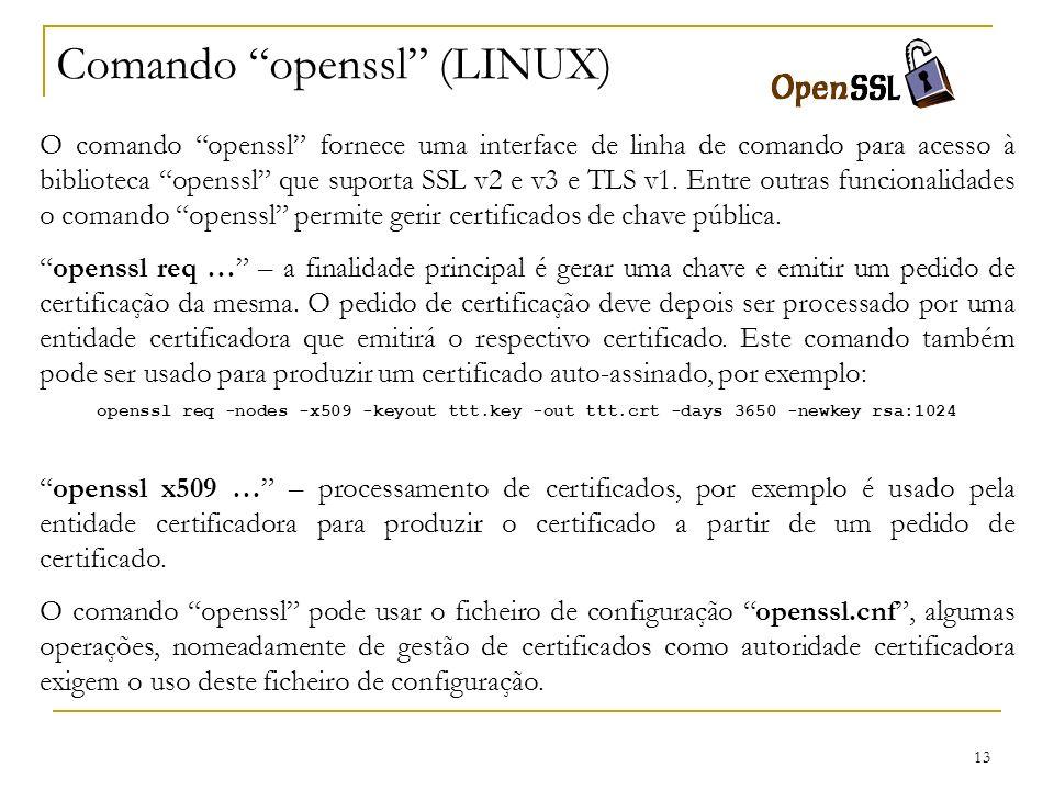 Comando openssl (LINUX)
