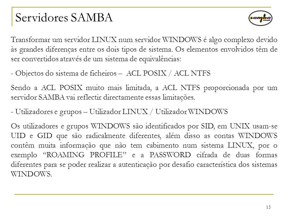 Servidores SAMBA