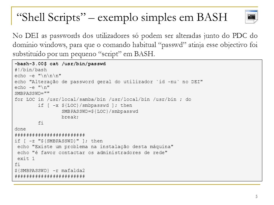 Shell Scripts – exemplo simples em BASH