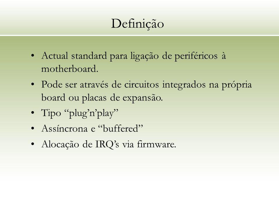 Definição Actual standard para ligação de periféricos à motherboard.