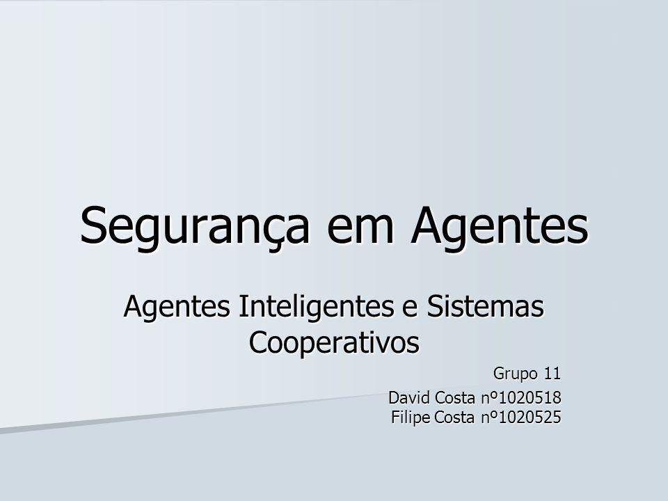 Agentes Inteligentes e Sistemas Cooperativos