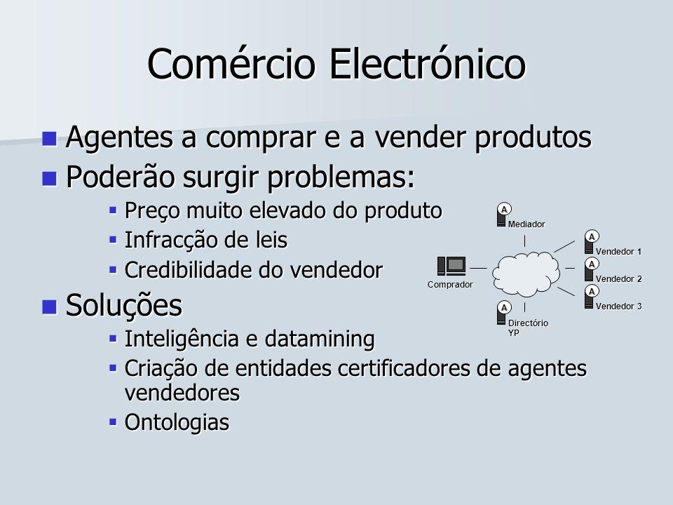 Comércio Electrónico Agentes a comprar e a vender produtos