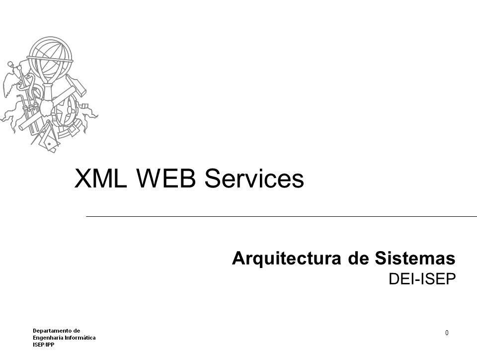 XML WEB Services Arquitectura de Sistemas DEI-ISEP