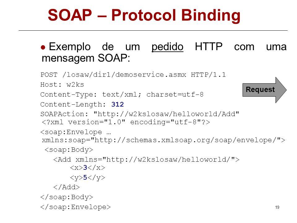 SOAP – Protocol Binding