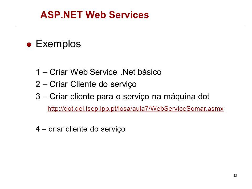Exemplos ASP.NET Web Services 1 – Criar Web Service .Net básico