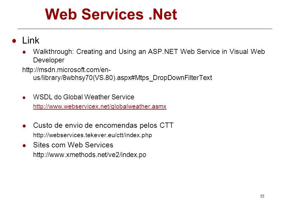 Web Services .Net Link Custo de envio de encomendas pelos CTT