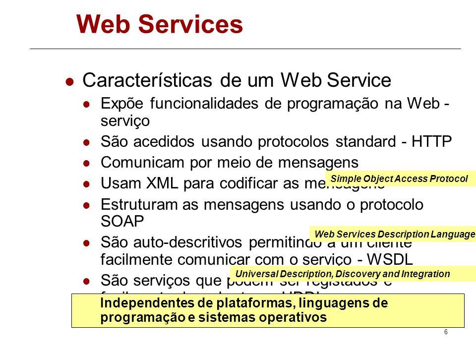 Web Services Características de um Web Service