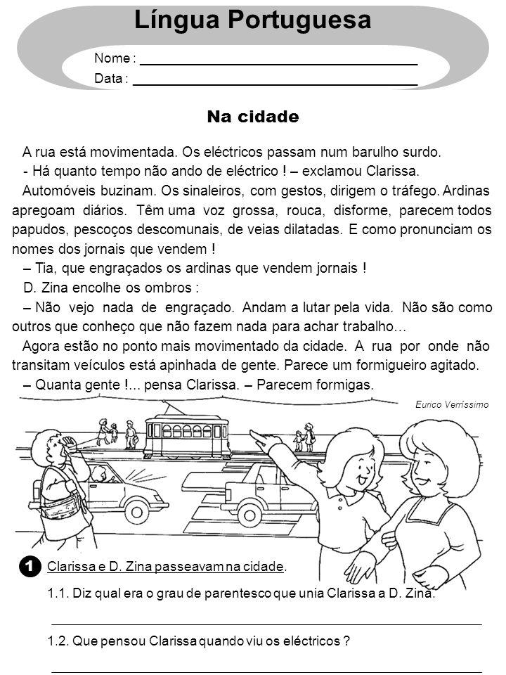 Língua Portuguesa Na cidade 1