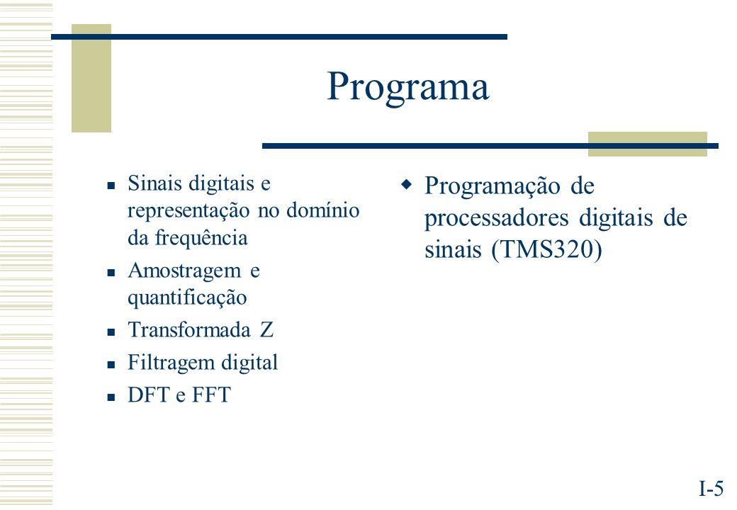 Programa Programação de processadores digitais de sinais (TMS320)