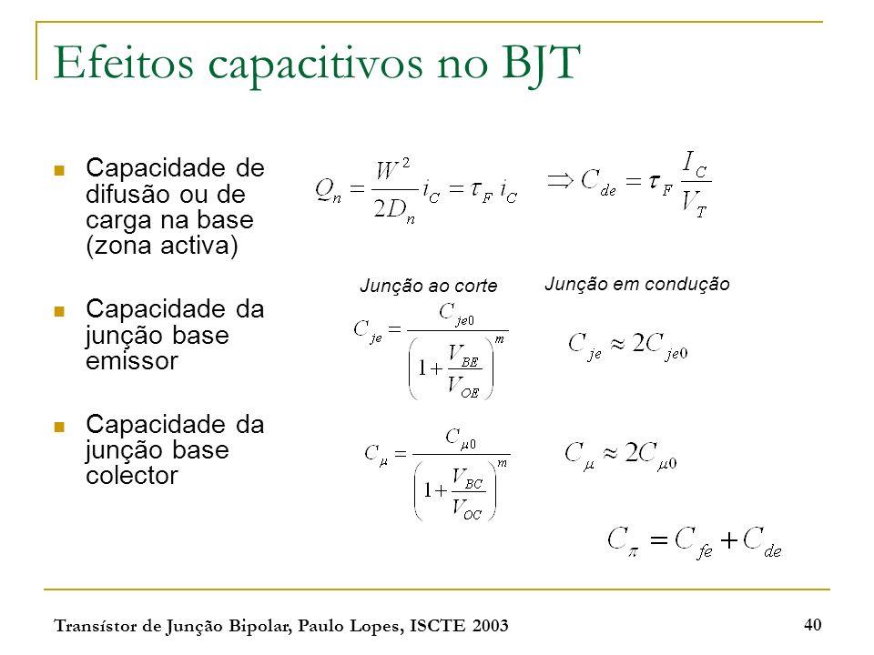 Efeitos capacitivos no BJT