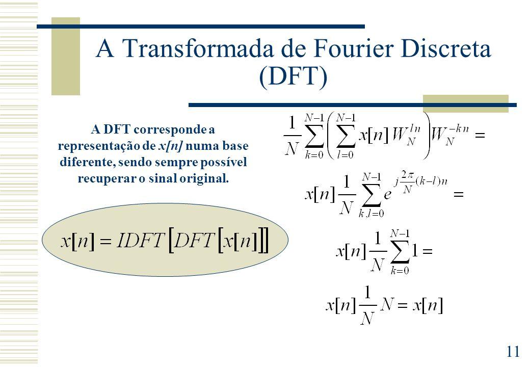 A Transformada de Fourier Discreta (DFT)