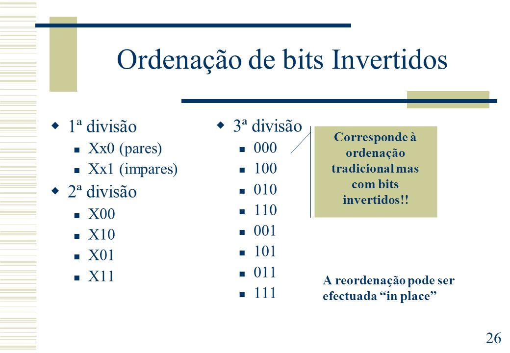 Ordenação de bits Invertidos