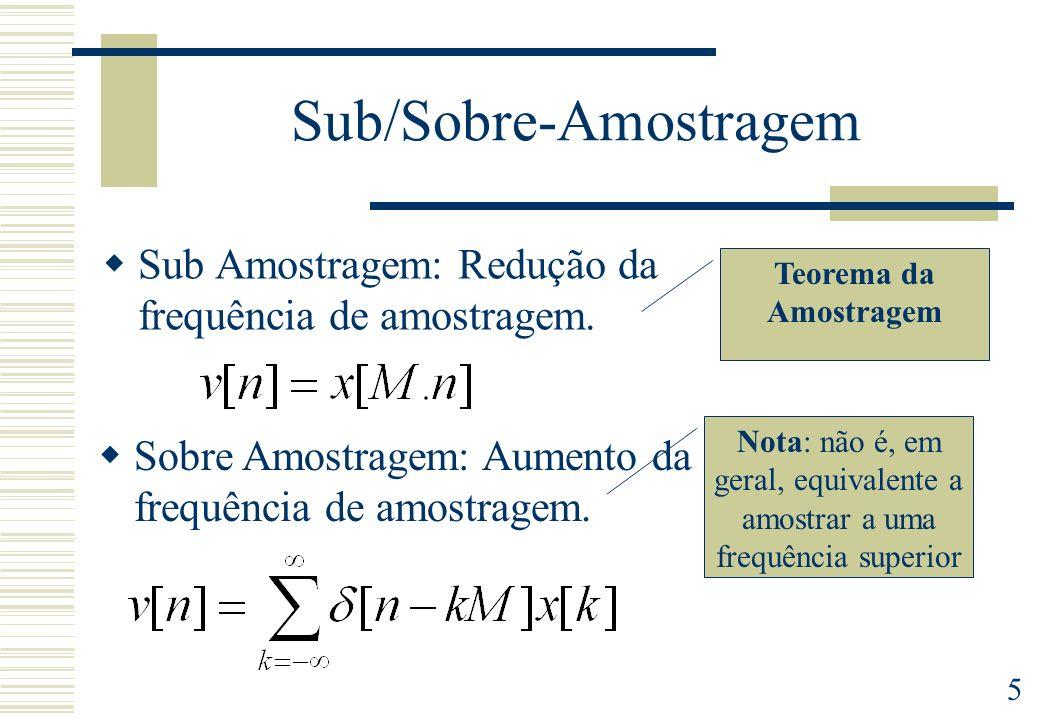 Sub/Sobre-Amostragem